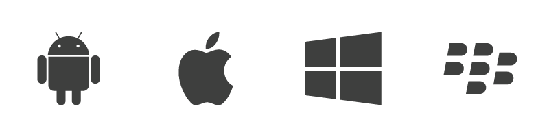 Iphone android logo